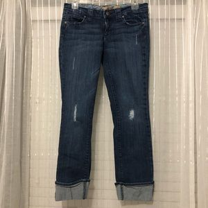 BOGO - Paige Blue Heights Cropped Distressed Jeans